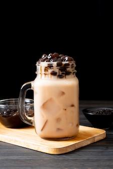Té de leche de taiwán con burbuja