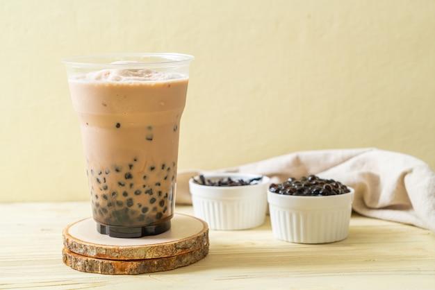 Té de leche de taiwán con burbujas