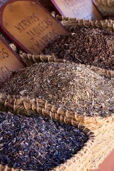 Té mezclado de hierbas