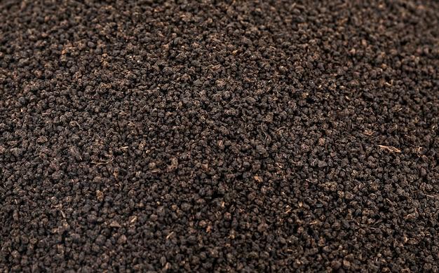 Té negro aromático suelto o secado fondo de hojas de té