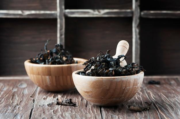 Té seco fermentado de alga marina