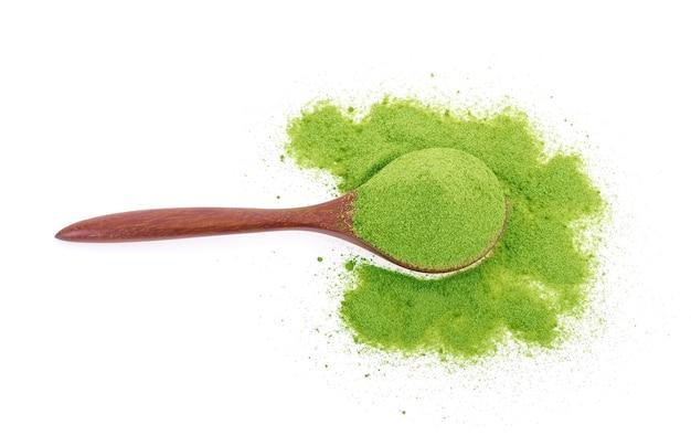 Té verde en polvo aislado