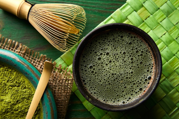 Teas y bambú matcha té polvo bambú