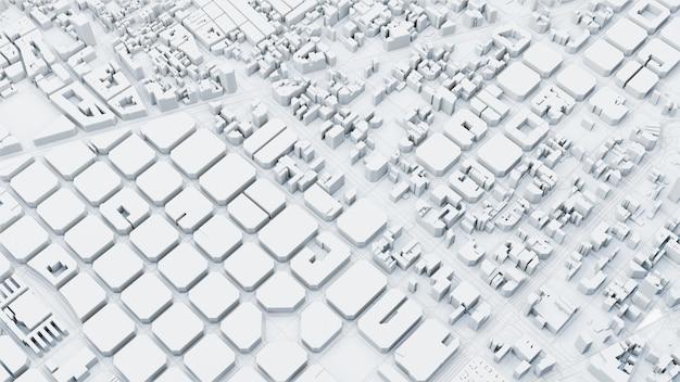 Techno mega city, render 3d