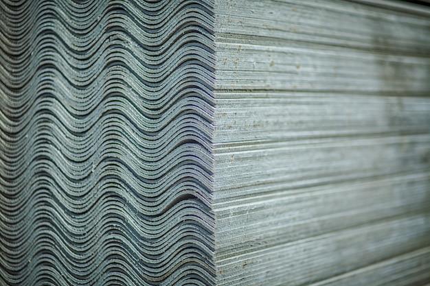 Techo de asbesto. láminas para techos de fibrocemento