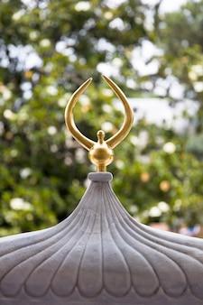 Techo dorado del palacio de topkapi en estambul, turquía