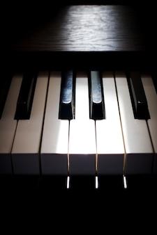 Tecla del piano fondo de arte y música.
