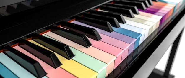 Teclado de piano 3d