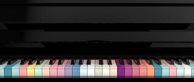 Teclado de piano colorido