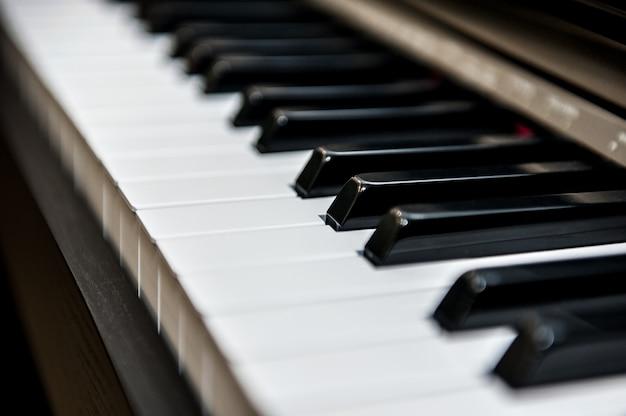Teclas de piano en diagonal
