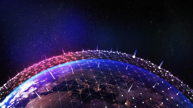 Tecnología 5g y 6g comunicación en el futuro concepto de internet 5gimagen de red informática