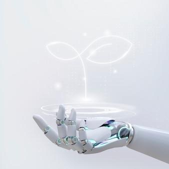 Tecnología de agricultura inteligente, diseño 3d genético de vida transgénica