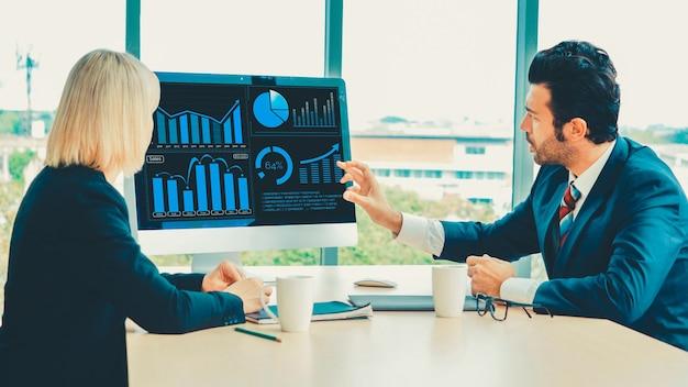 Tecnología de análisis de datos visuales empresariales mediante software informático creativo