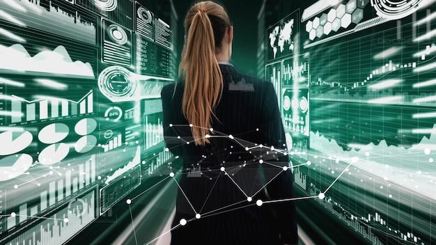 Tecnología de big data para las finanzas empresariales conceptual.