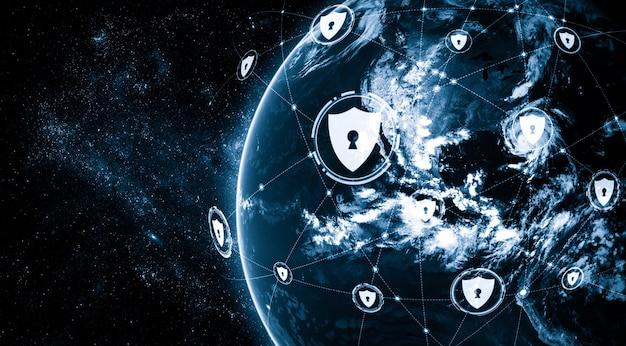 Tecnología de ciberseguridad y protección de datos en línea en una percepción innovadora