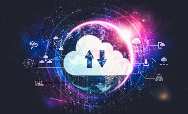 Tecnología de computación en la nube y almacenamiento de datos en línea