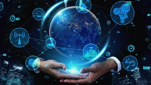 Tecnología de comunicación 5g de la red de internet conceptual