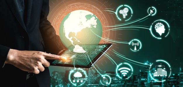 Tecnología de comunicación 5g de red de internet