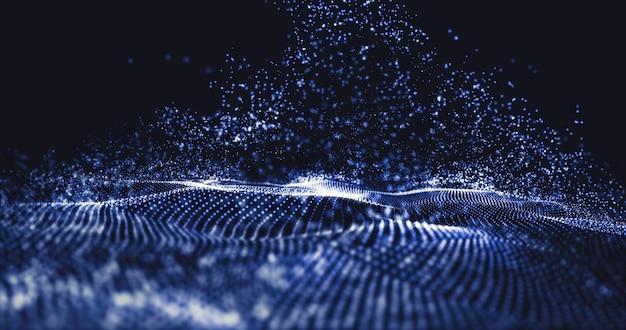 Tecnología de datos abstracto futurista