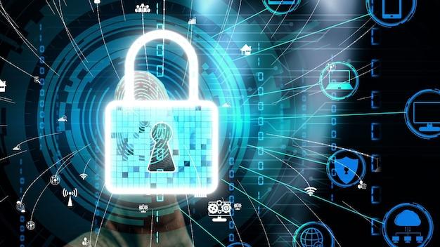 Tecnología de escaneo digital biométrico de huellas dactilares conceptual