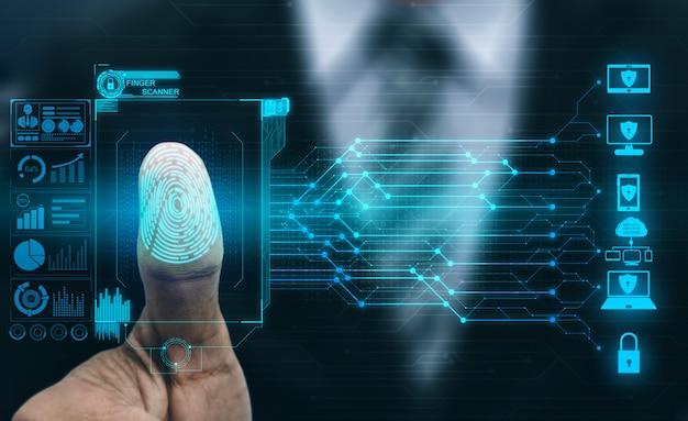 Tecnología de escaneo digital biométrico de huellas dactilares.