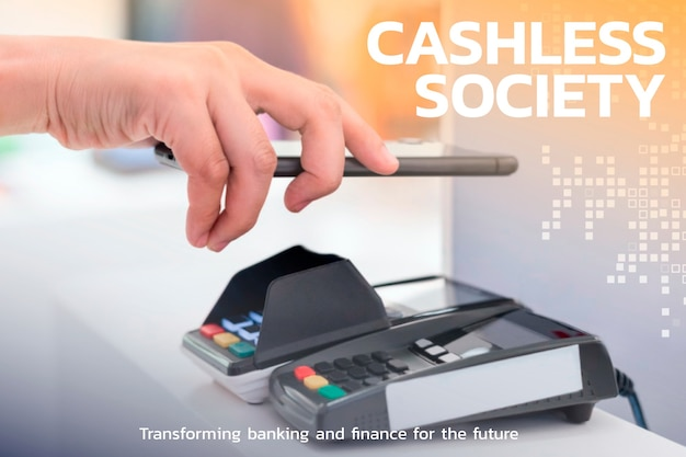 Tecnología financiera de la sociedad sin contacto y sin efectivo