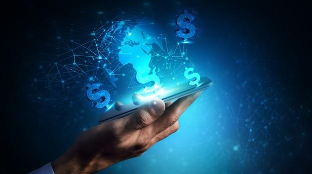 Tecnología de finanzas de banca comercial de moneda dólar