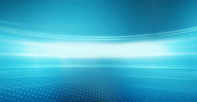 Tecnología gráfica de fondo rayos de luz curvos