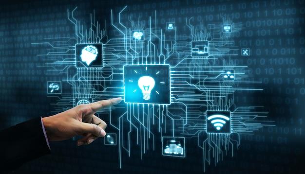Tecnología de innovación para el concepto de finanzas empresariales