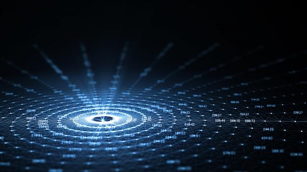 Tecnología de inteligencia artificial (ai) e internet de las cosas iot.