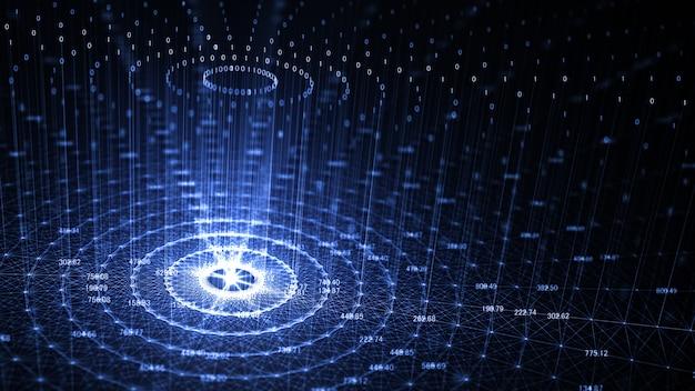 Tecnología de inteligencia artificial (ai) e internet.