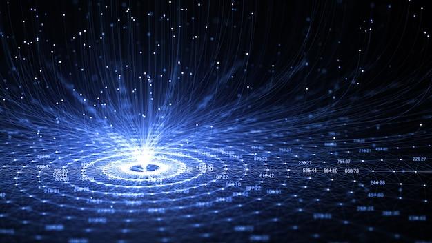 Tecnología inteligencia artificial (ia) e internet de las cosas iot concept.