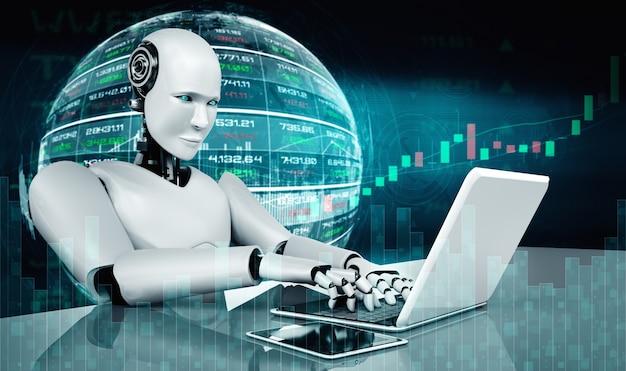 Tecnología de inversión financiera futura controlada por un robot de inteligencia artificial mediante aprendizaje automático