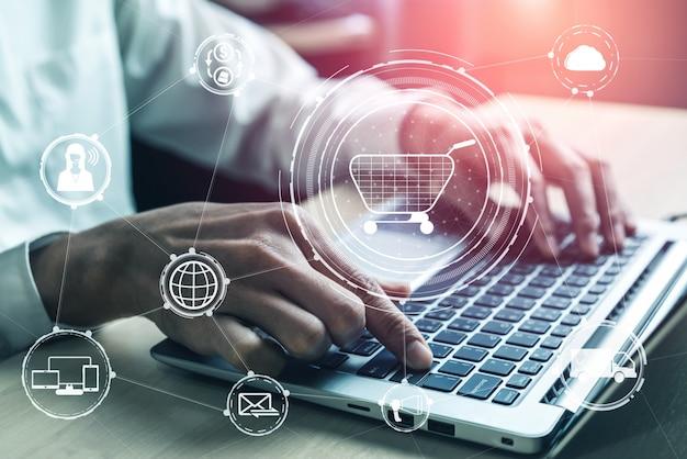 Tecnología omni channel de negocios minoristas en línea.