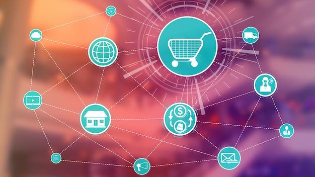 Tecnología omnicanal de comercio minorista en línea.