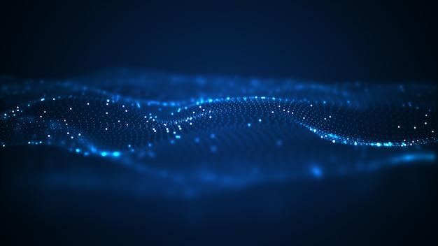 Tecnología de onda digital de fondo.
