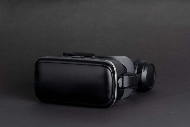Tecnología de realidad virtual vr para juegos en la vista superior de la mesa