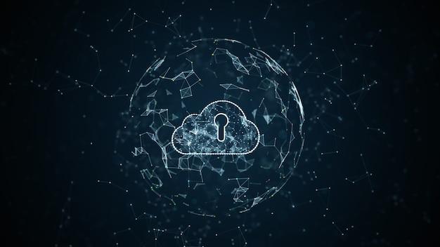 Tecnología de red de datos digitales de seguridad cibernética internet y big data