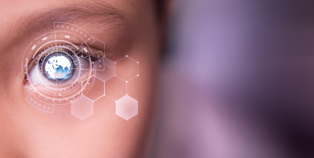 Tecnología de red de ojos y comunicación.