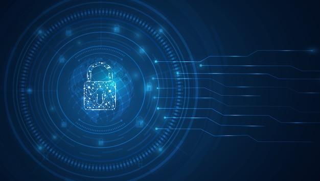 Tecnología de seguridad concepto de fondo abstracto cyber clave digital con interfaz de tecnología