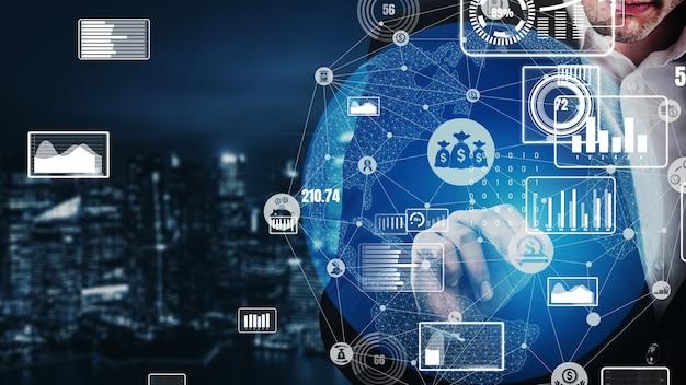 Tecnología de transacciones financieras y monetarias conceptual