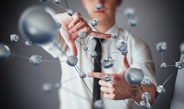 Tecnologías innovadoras en ciencia y medicina. tecnología para conectar.
