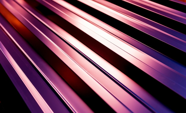 Tejas metálicas violetas con patrón de luz