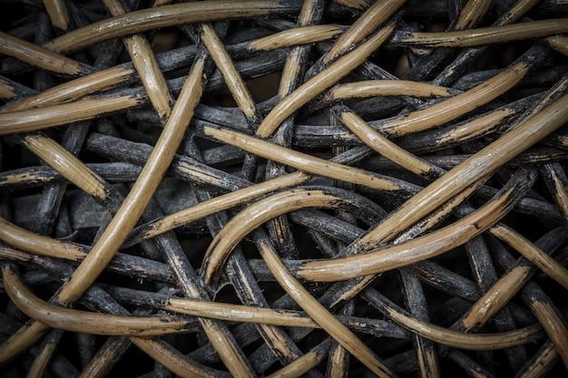 Tejido artesanal de ratán tejido.
