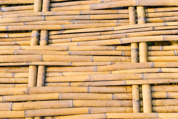 Tejido de bambú camino a pie puente textura