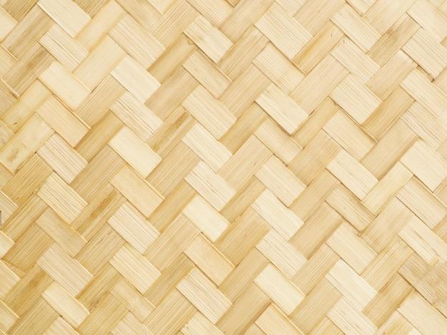 Tejido de bambú marrón. de cerca.