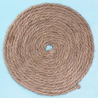 Tejido de cuerda natural de algodón circular