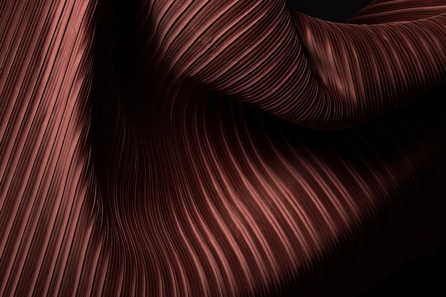 Tejido plisado en drapeado largo con sombra