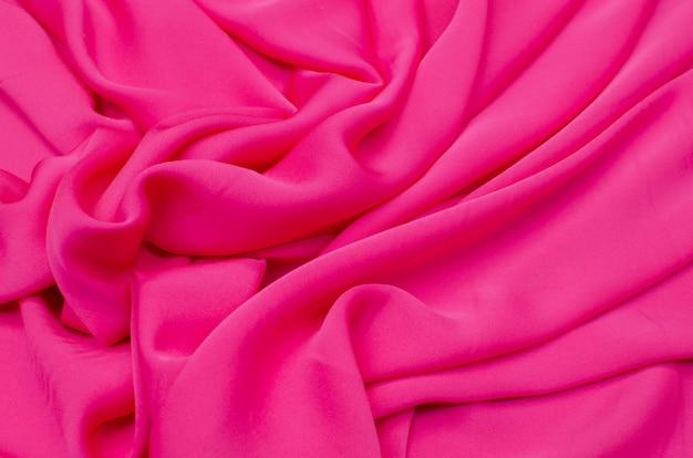 Tejido de seda, crepé de china rosa