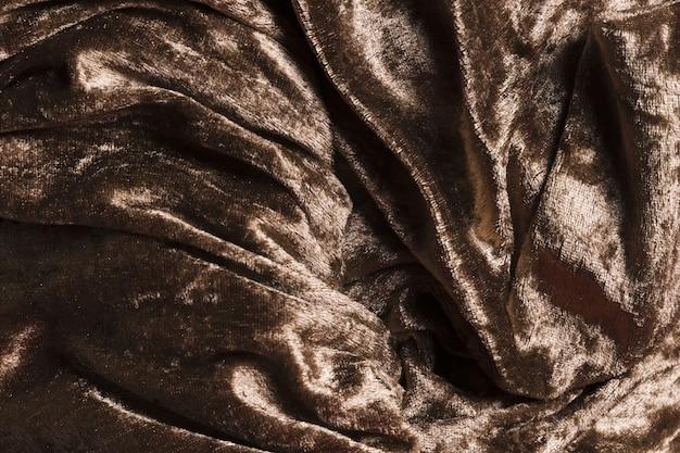 Tejido de seda material marrón para decoración del hogar